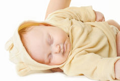 спать младенца newborn Стоковое Фото