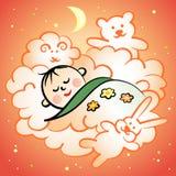Спать младенец Иллюстрация штока