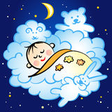 Спать младенец Иллюстрация вектора