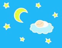 спать ночи младенца Иллюстрация штока