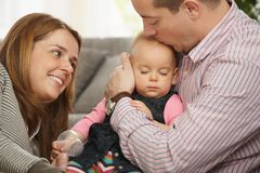 спать отца s младенца рукоятки Стоковые Изображения RF