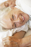спать пар кровати старший Стоковая Фотография RF