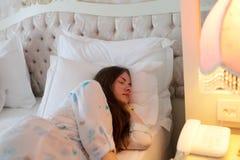 спать предназначенный для подростков Стоковое Изображение