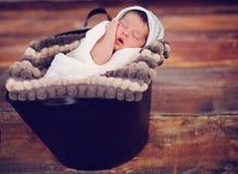 Спать представленный младенцем стоковое фото
