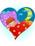 спать ребенка иллюстрация штока
