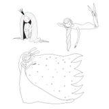 Спать установленные девушки иллюстрация штока