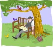 спать человека стенда старый старший Стоковое Изображение