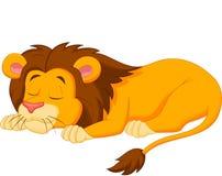Спать шаржа льва Стоковое Изображение RF
