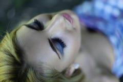 спать девушки Стоковое Фото
