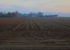 спаханное поле Стоковое Изображение