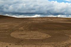 спаханное поле Стоковые Изображения