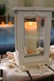 спа вечера свечки ванны Стоковые Изображения