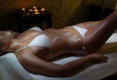 Спа женщины. Стоковое Фото