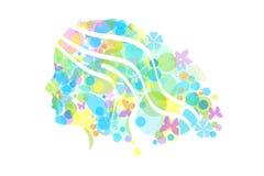 спа здоровья стороны красотки предпосылки женская стоковое изображение rf