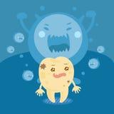 Спад зуба шаржа Стоковое Изображение