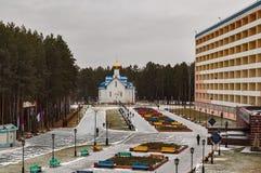 Спа-курорт в Taraskul и церков Tyumen Стоковые Фото