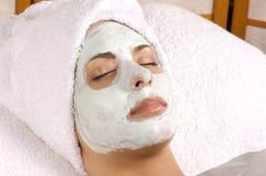 спа маски применения лицевая полная Стоковая Фотография RF