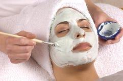 спа маски применения лицевая Стоковое Фото