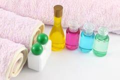 спа масла цвета бутылок стоковые изображения rf