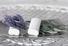 спа мыла лаванды Стоковое Изображение