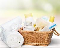 спа мыла молока самоцвета икры тела ванны вспомогательного оборудования облицовывает полотенца Стоковые Изображения