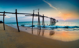Спад на seashore Стоковое Изображение RF
