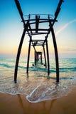 Спад на seashore Стоковое Фото