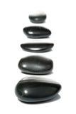 спа рядка 5 камушков стоковая фотография