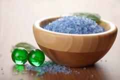 спа соли внимательности тела ванны шариков травяная Стоковая Фотография