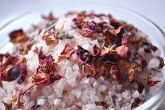 спа солей для принятия ванны стоковое фото