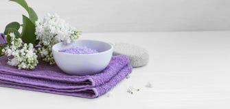 спа соли жизни ванны все еще Стоковые Изображения RF