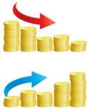 Спад финансов Стоковое Фото