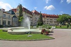 спа фонтана зданий piestany Стоковая Фотография