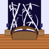 Спальня с изображением также вектор иллюстрации притяжки corel Стоковое Изображение