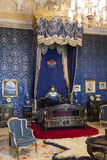 Спальня ферзя дворца Лиссабона Ajuda национального Стоковое фото RF