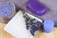 спа lavander Стоковые Изображения