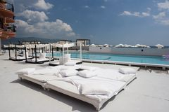 спа poolside гостиницы роскошная Стоковые Изображения RF