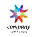 Спектральный логос цветка Стоковые Изображения RF