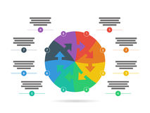 Спектр радуги покрасил шаблон представления головоломки infographic при объясняющее поле текста изолированное на белой предпосылк Стоковое Изображение