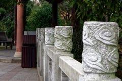 Спектр столбца-Qingyun муара каменный высекая Стоковая Фотография