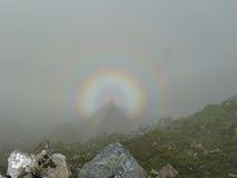 Спектр сломанный в Snowdonia (Уэльс) Стоковые Изображения RF