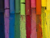 Спектр художнических crayons Стоковое Изображение