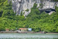 Спетая видом пещера sot в заливе ha длинном, Вьетнаме Стоковая Фотография RF