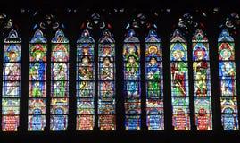 специализированная часть окна paris notre dame собора Стоковое Изображение RF