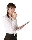 специалист центра телефонного обслуживания Стоковое Фото