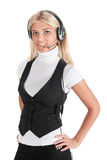 специалист центра телефонного обслуживания Стоковые Фотографии RF