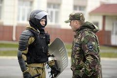 Специальная полиция OMON стоковые фото
