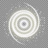 Специальное завихрение светового эффекта искры Элементы на прозрачной предпосылке вектор иллюстрация штока