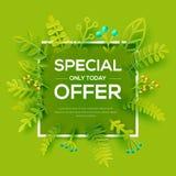 Специальное предложение с плакатом листьев Стоковые Изображения RF