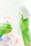 Специализированная часть окна чистки с тензидом стоковые изображения rf